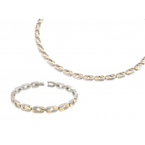 Boccia 9001-0801902-SET Collier + gratis armband