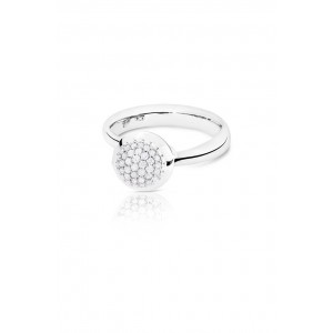 TAMARA COMOLLI - BOUTON SMALL RING WITGOUD MET DIAMANT